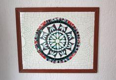 quadro mandala mosaico azulejo artesanal arte ceramica tiles handmade decor decoração design interiores casa home pattern