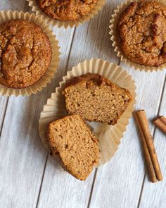 2. Paleo Pumpkin Spice Muffins #paleo #breakfast #recipes http://greatist.com/eat/paleo-breakfast-recipes