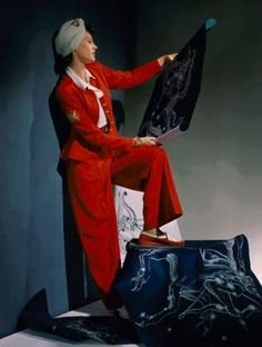 vintage everyday: Extraordinary Color Fashion Photography Taken During the 1940s by John Rawlings