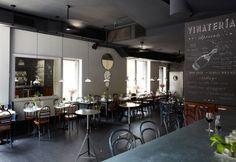 Vinateria, un ristorante bar a New York. Arredi vintage, materiali ecosostenibili e menu alternativi a South Harlem.
