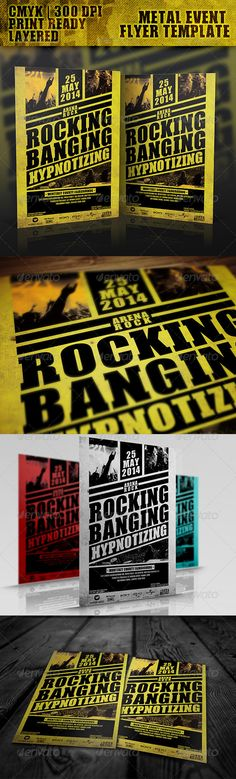 Arena Rock Flyer Template - GraphicRiver Item for Sale