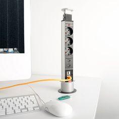 revolt Versenkbare Tisch-Steckdosenleiste, 3-fach mit: Amazon.de: Elektronik
