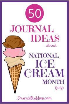 With 50 new journal prompts in honor of this important holiday, students can savor the sweetness of writing about their favorite cold treats. They'll consider lands made of ice cream and think about the ice cream flavors that could represent their friends and family. Students will also have the chance to make up new ice cream flavors and think about how ice cream brings people together. via @journalbuddies