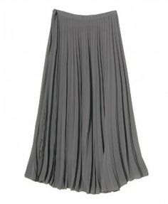 ChicNova Skirt High Waist Pleated Long Skirt with Zip Side