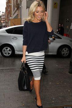 black sweater pencil skirt