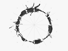How Arrival's Designers Crafted a Mesmerizing Alien Alphabet | Each logogram could be cut up into 12 pieces. | Credit: Aaron Morrison | From Wired.com