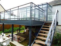 terrasse en acier et bois architecture bois terrasse pinterest architecture. Black Bedroom Furniture Sets. Home Design Ideas