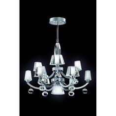 FALADESA ALFI 10 LAMP CHANDELIER IN CHROME 20669