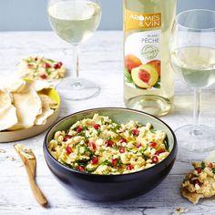 Houmous aux grains de grenade et amandes - Humus with almond and pomegranate