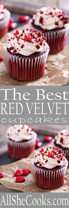 Whip up a batch of the Best Red Velvet Cupcakes to celebrate with the best Valentine's Day cupcakes.