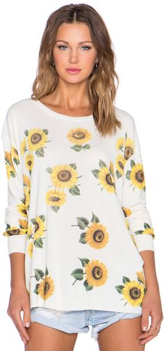 Wildfox Couture Contempo Sunflower Sweatshirt