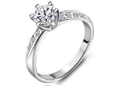 It's cheap but I'll take it! Fave one so far! Crown Ring Engagement Ring Platinum Plated Rings for Women Wedding Rings