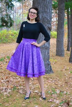 Gertie's New Blog for Better Sewing: Purple Pom Pom Explosion Skirt