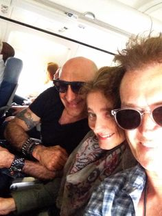 The Hughes's and brother Kenny Aronoff. Heading back to LA...