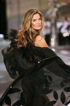 Alessandra Ambrosio Photos - 2008 Victoria's Secret Fashion Show - Runway - Zimbio.    I love this sheer black robe!!!