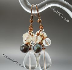 100% Natural clear quartz earrings handmade gemstone earrings natural crystal dangle freshwater pearl dangle earrings natural stone earrings    Material:    1. Natural high quality Gemstone      Natural crystals are the offspring of Heaven and Earth's marriage. They're a gift from Gaia, the spirit of our planet, to amplify the power of light and love.     Crystals are powerful healing tools, and you can use them to boost your natural spiritual healing power.    Crystals can help with your…