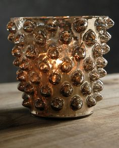 """Quantum Glass Bronze 4.5"""" Candle Holders $6  each / 6 for $5 each"""