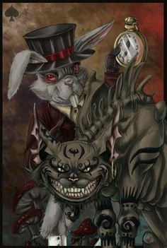 Evil art  Just awesome! I love Alice's Adventures in Wonderland!