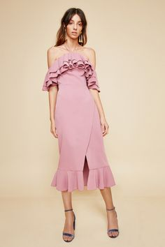 TEMPTATION MIDI DRESS mulberry | C/MEO COLLECTIVE $195.00    http://www.shopyou.com.au/ #womensfashion #shopyoustyle