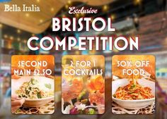 Win up to 50% off food with Bella Italia in Bristol, Filton