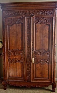 vintage antique furniture wardrobe walnut armoire. Antique Armoire. Vintage Furniture Wardrobe Walnut Armoire N