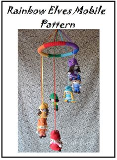 Es un Mundo Amigurumi: English Pattern... Rainbow Elves Mobile Pattern!!!!