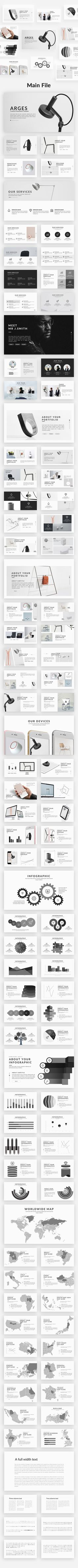 Arges Minimal Powerpoint Template #infographic #flow chart • Download ➝ https://graphicriver.net/item/arges-minimal-powerpoint-template/19481911?ref=pxcr