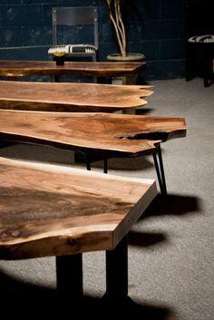 YOUR CUSTOM Live Edge Black Walnut Coffee Table - Natural - Rustic - Modern by ElpisWorks on Etsy https://www.etsy.com/listing/171187753/your-custom-live-edge-black-walnut
