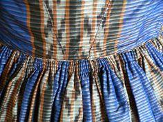 American Civil War Blue Print Dress