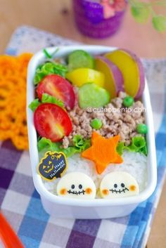 Skeleton of cheese bento