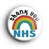 Thank You NHS Rainbow Badge. Nurses, doctors and ER staff Rainbow Drawing, Rainbow Art, Thank You Poster, Rainbow Badge, Badge Creator, Custom Badges, Button Badge, Badge Design, How To Make Buttons