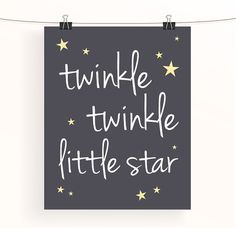 Twinkle twinkle little star monochrome nursery by madebyaiza