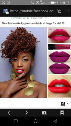 Matte lipgloss available at sh350.  Like my fb page jay's trendy collections and get to see more