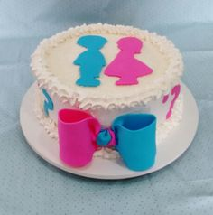 Chá de revelação bolo cake