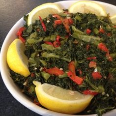 Kale with Garlic and Peppers | MyRecipes.com