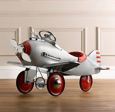 Vintage Airplane Go Cart...what little boy wouldn't love this under the tree Christmas morning!