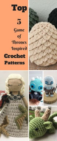Top 5 Game of Thrones Inspired Crochet Patterns Crochet Dragon Pattern, Crochet Keychain Pattern, Crotchet Patterns, Crochet Patterns Amigurumi, Crochet Motif, Crochet Game, Cute Crochet, Game Of Thrones, Crochet Projects