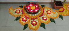 Rangoli Designs Flower, Rangoli Patterns, Colorful Rangoli Designs, Rangoli Designs Diwali, Flower Rangoli, Diwali Decoration Lights, Diwali Decorations At Home, Festival Decorations, Flower Decorations