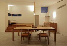 松原建築計画 / Matsubara Architect Design Office の 北欧風 リビングルーム ダイニング・キッチン