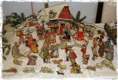 betlém po babičce Josef Wenig Ivan Bilibin, Czech Republic, Paper Dolls, Christmas, Painting, Art, Xmas, Art Background, Painting Art