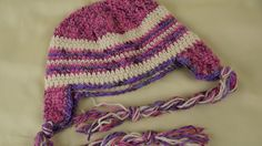 Brand New Free Pattern. Crochet Hat with Ear Flaps and Braids for 1 - 3 Year Old Kids!
