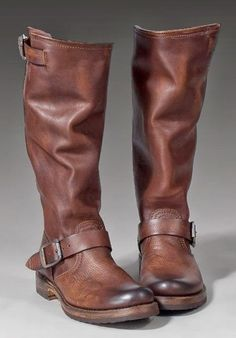 Dark brown leather shoes for ridding | Fashion World