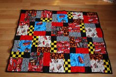 CARS Baby or Toddler quilt by JACsCustomQuilts on Etsy