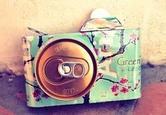 arizona tea camera, want to learn how to make? Look for the video: DIY room decorations using water bottles and soda cans, uploaded by Bethany Mota