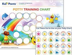 New Potty Training Chart with Stickers