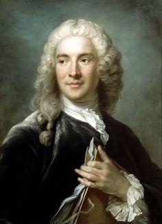 Swedish pastelist Gustaf Lundberg (1695-1786): Portrait of French painter Charles-Joseph Natoire, 1741 (Louvre).