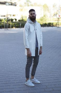 Jacket Stutterheim  Trousers Sandro Sneakers Stan Smith