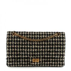 05f16bbac4e CHANEL Fantasy Tweed 2.55 Reissue 226 Flap Black White