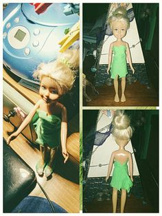 My tinkerbell ooak #handmadedress #ooak #barbie #barbieooak #tinkerbell