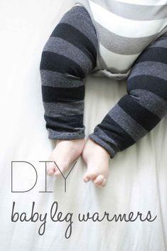 No sewing machine DIY Baby Leg Warmers